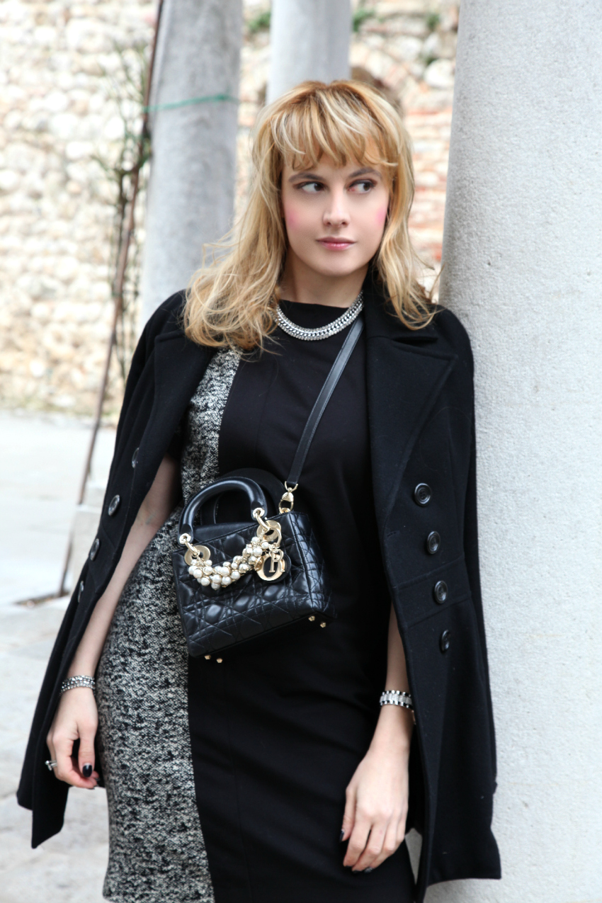 back to black, alessia milanese, thechilicool, fashion blog, fashion blogger, lady dior bag