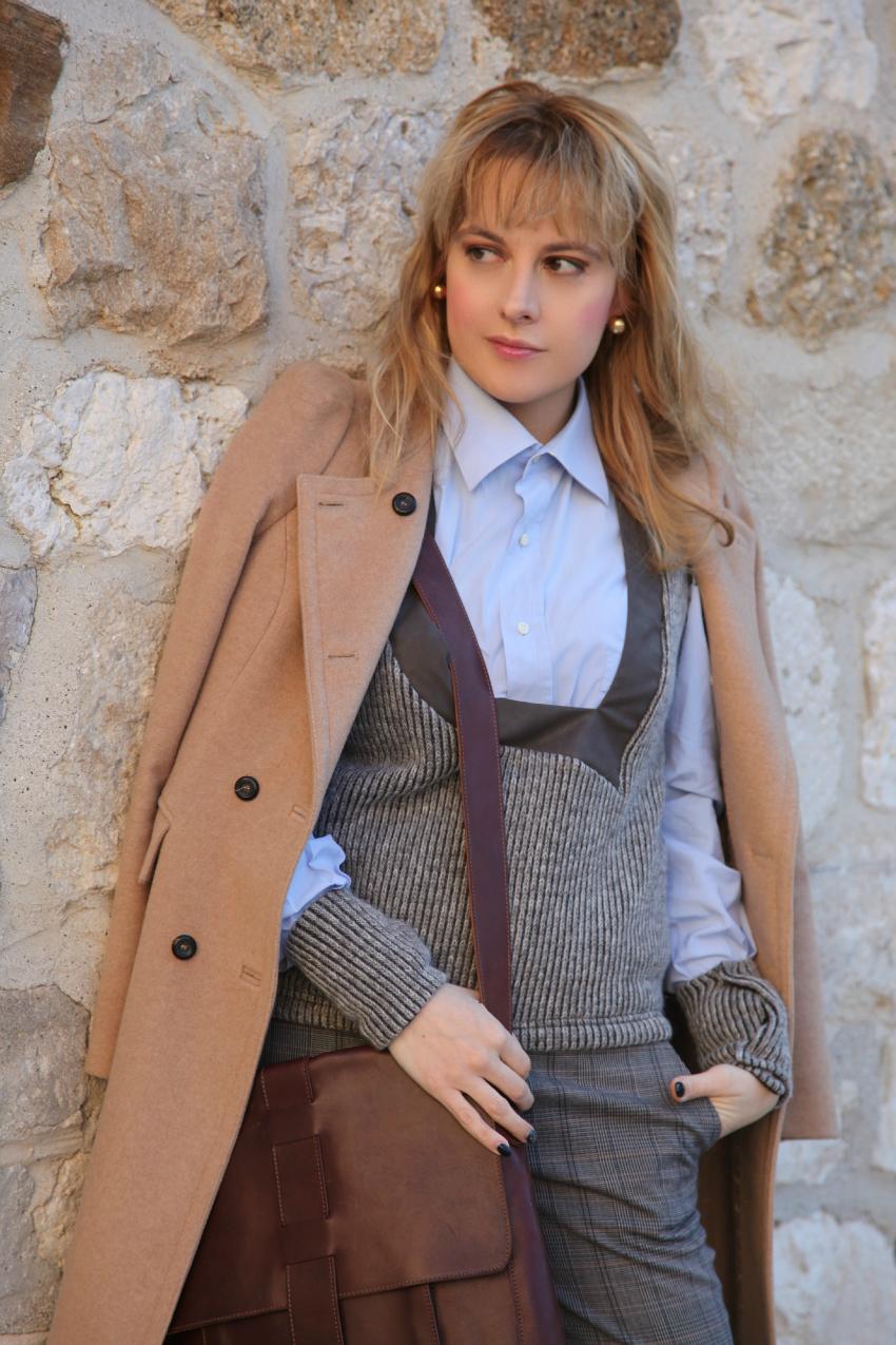 camel + grey, alessia milanese, thechilicool, fashion blog, fashion blogger, one soul azzurra itri