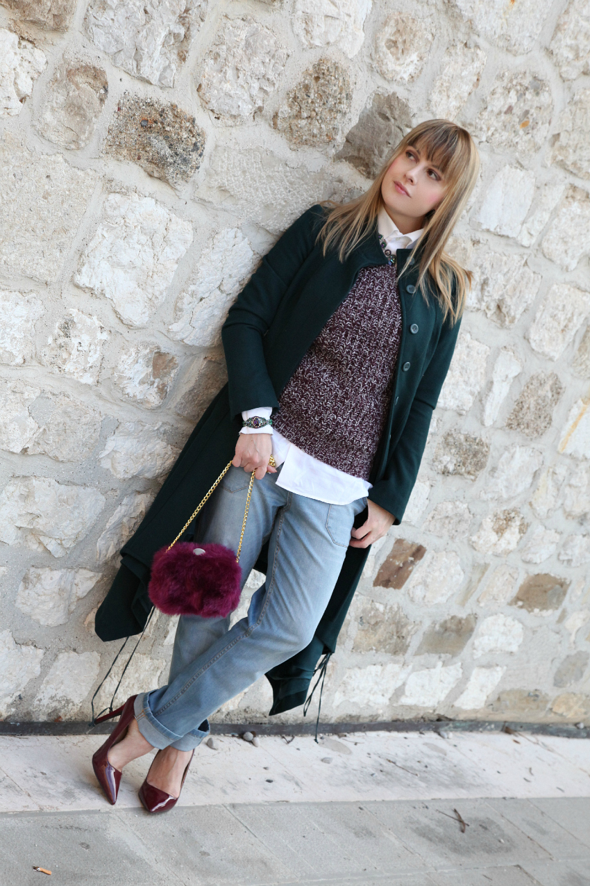 Un cappotto, scarpe color burgundy e desideri, alessia milanese, thechilicool, fashion blog, fashion blogger, sodini bijoux