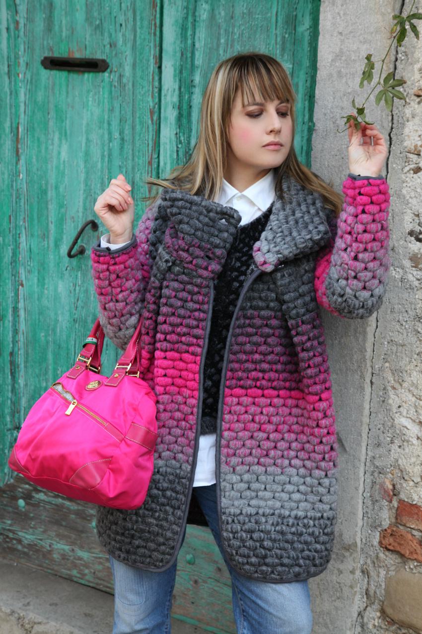 Grigio, rosa, un cappotto e la neve, alessia milanese, thechilicool, fashion blog, fashion blogger , miss coquines