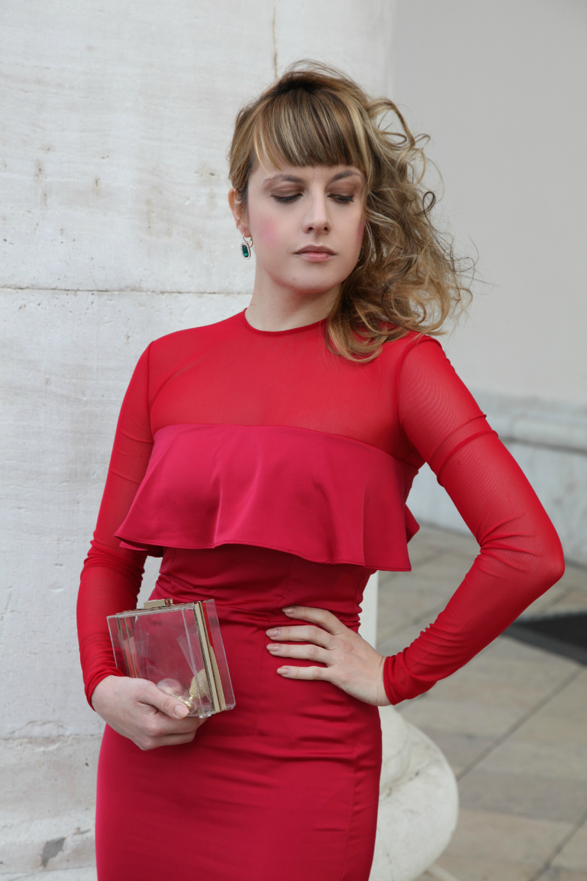 Red carpet, alessia milanese, thechilicool, fashion blog, fashion blogger, isabel garcia dress