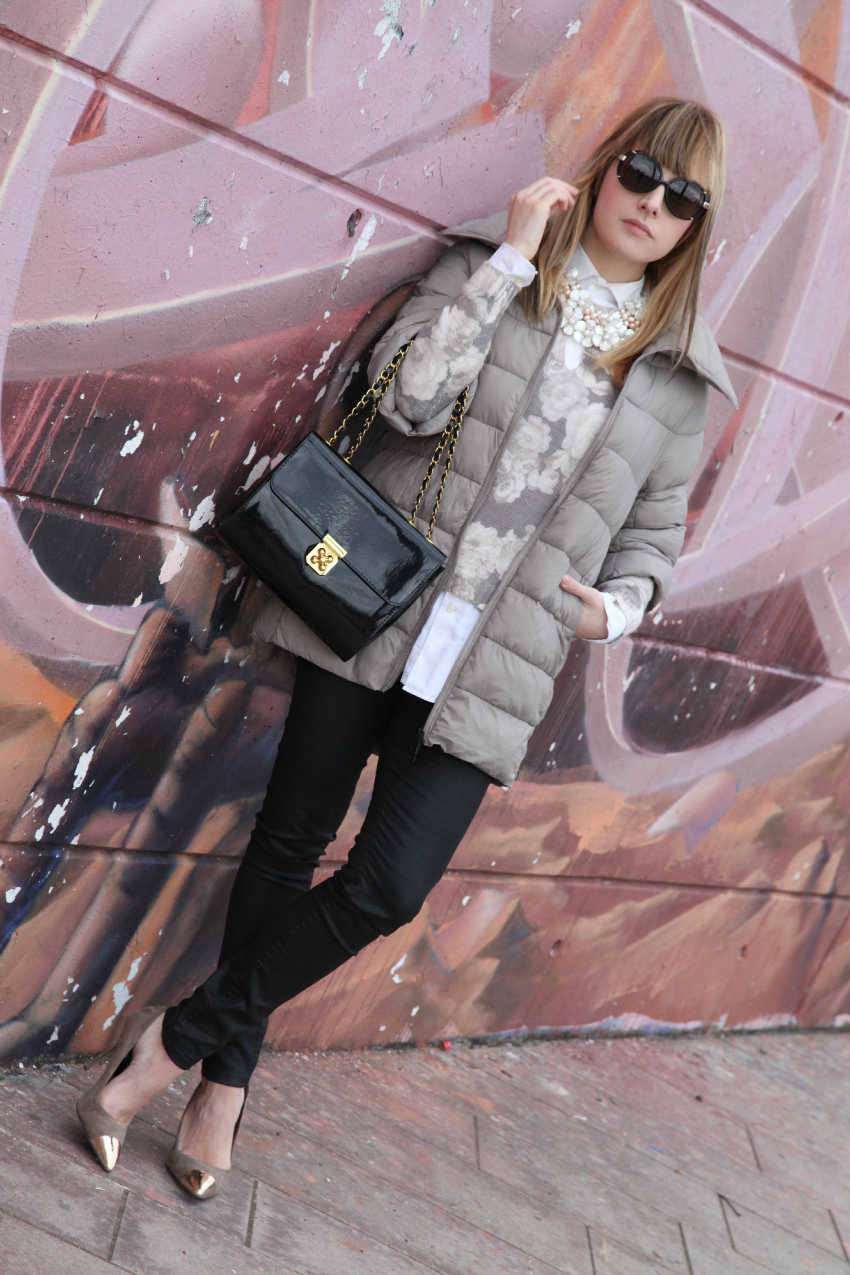 Bianco, tortora e nero - Friday's look, alessia milanese, thechilicool, fashion blog, fashion blogger