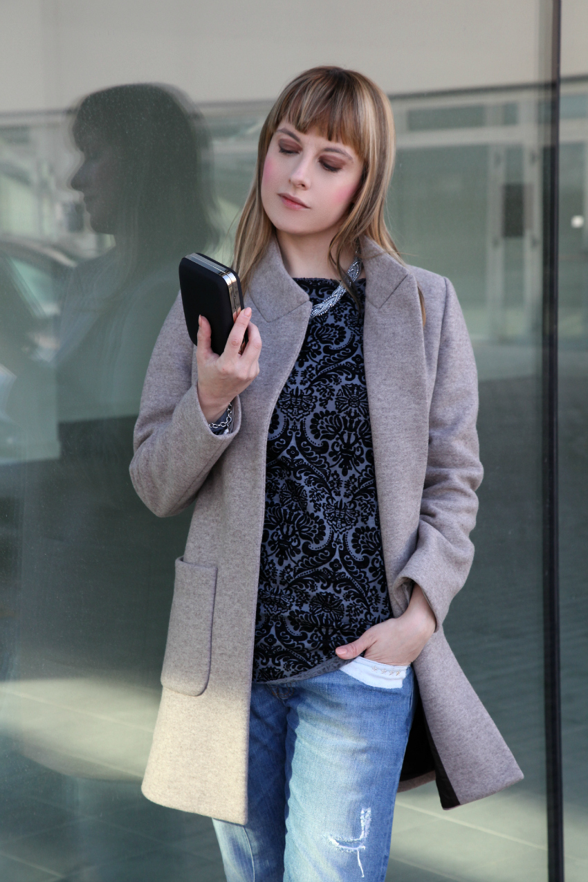 Lace and grey, alessia milanese, thechilicool, fashion blog, fashion blogger, maglia x cape